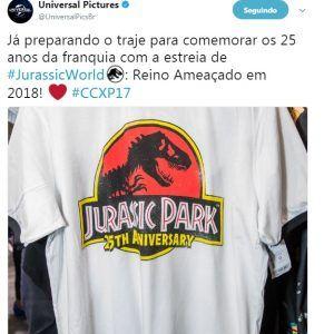 Jurassic World Reino Ameaçado terá trailer lançado