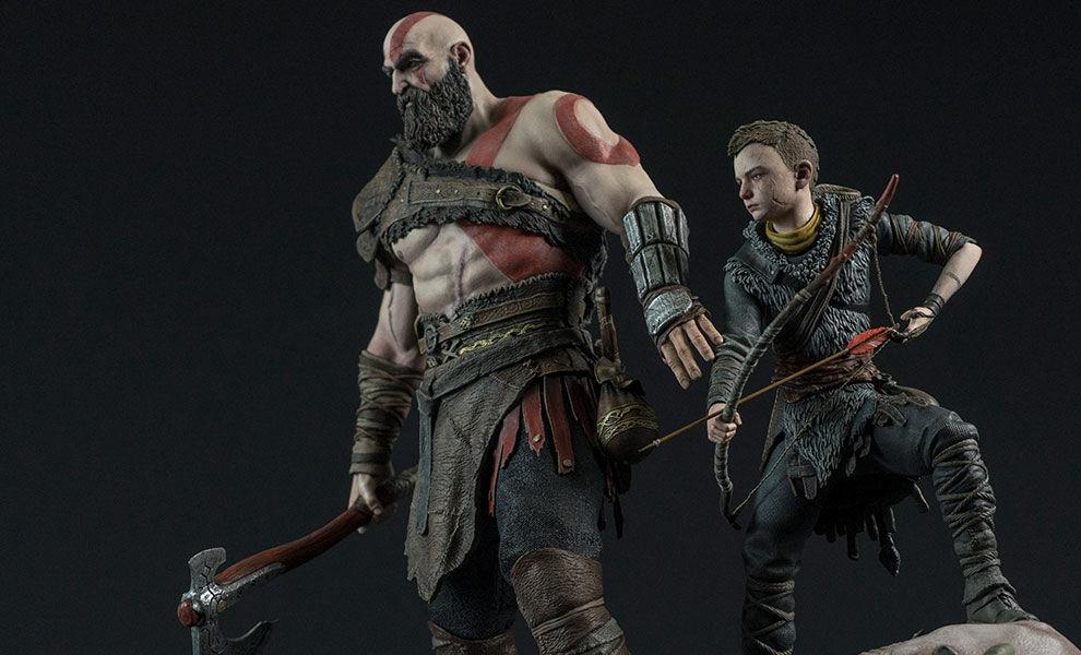 God of War: Kratos e Atreus estatueta