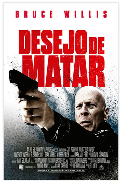 """Poster for the movie """"Death Wish: A Vingança"""""""