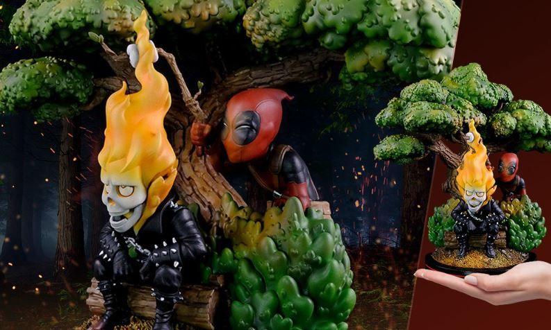 Sideshow lança pré-venda de Deadpool e Motoqueiro Fantasma da QMX