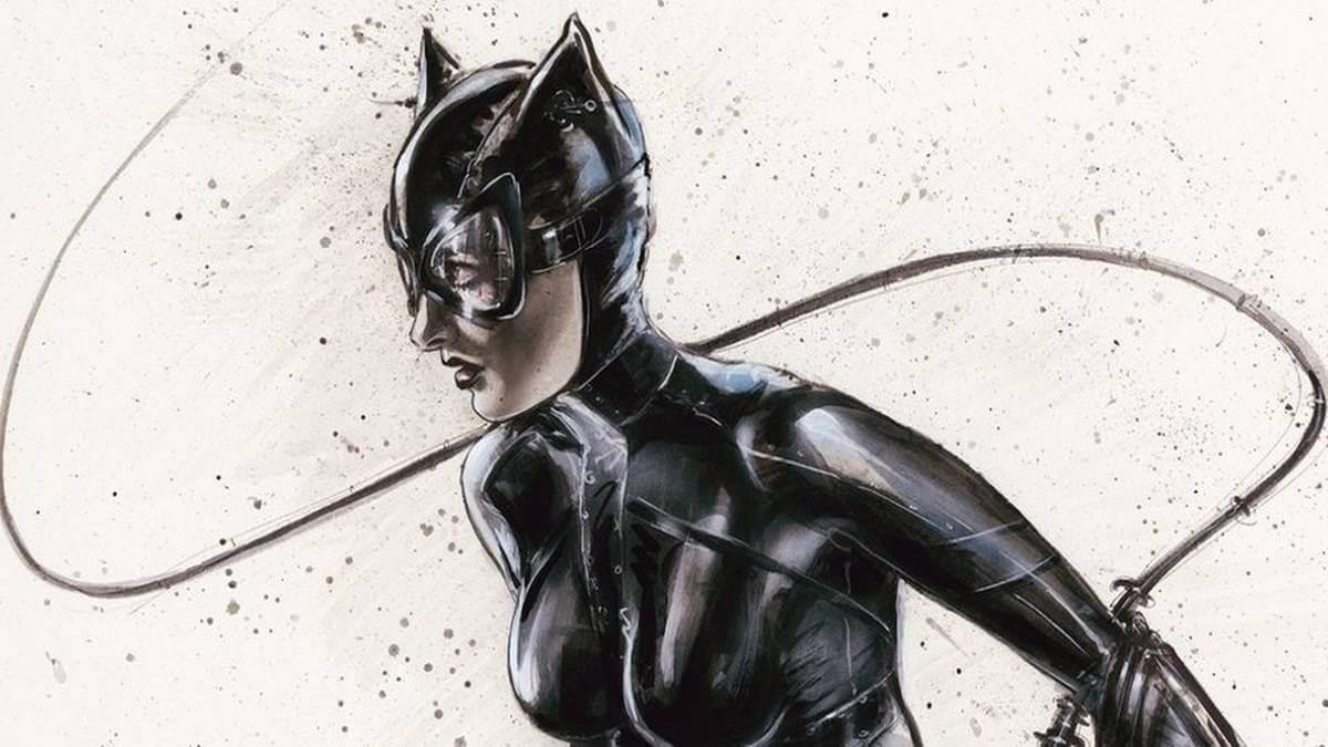 Olivia De Berardinis pinta Catwoman para o leilão de caridade de Jim Lee