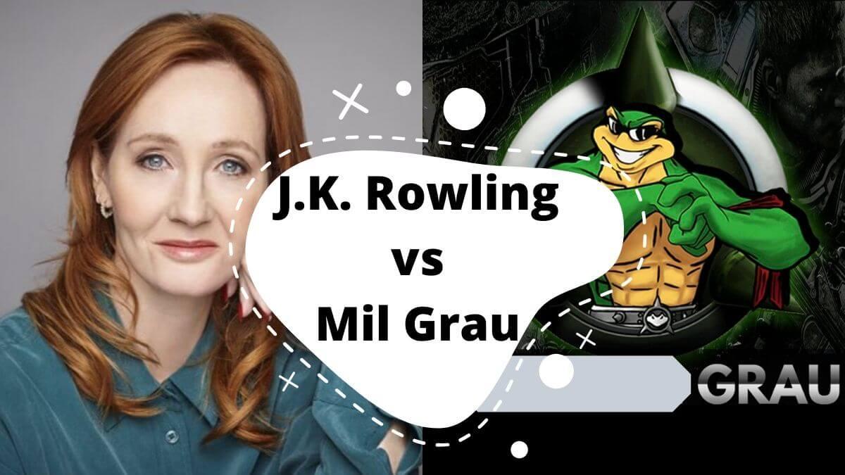 J.K. Rowling e Mil Grau o que eles tem em comum