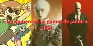 Lançamentos de games de janeiro 2021