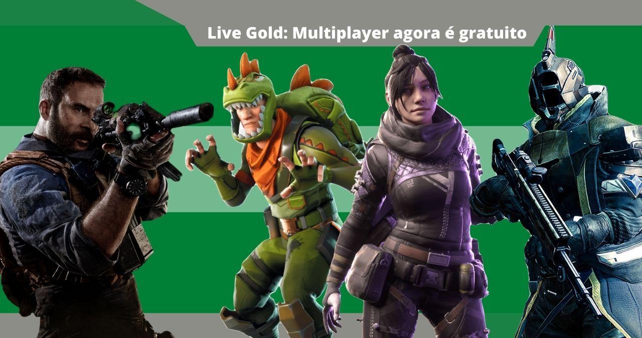 Xbox Live Gold: jogos free to play podem ser jogados sem uma assinatura