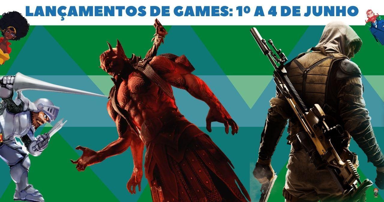 Os lançamentos de games em junho de 2021: De 1º a 4