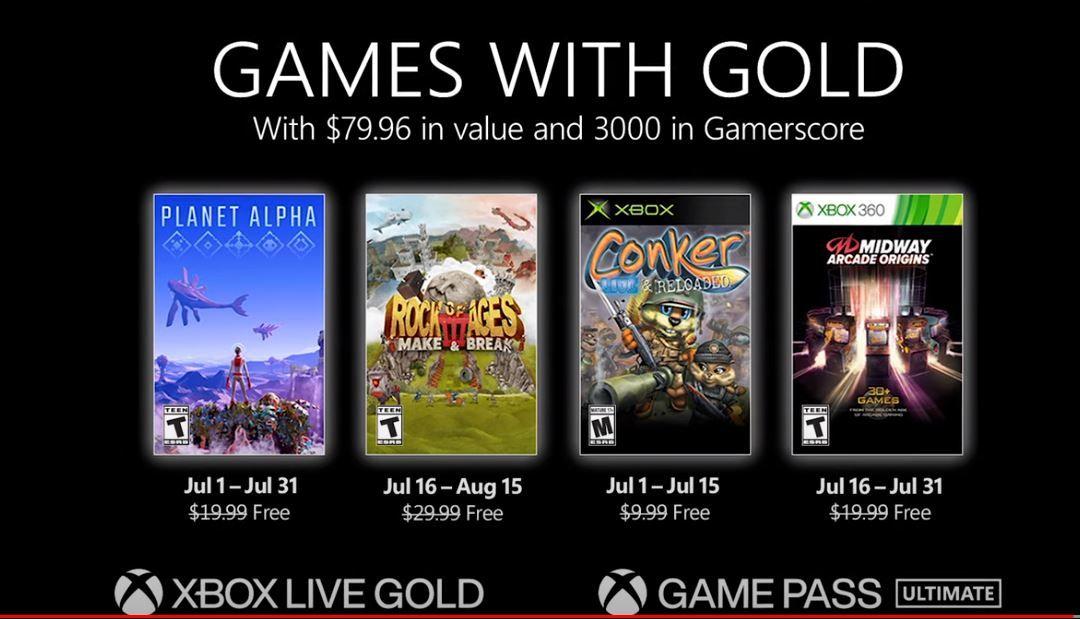 Games With Gold de julho destaca Conker: Live and Reloaded, e mais