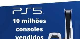 Playstation 5 alcança 10 milhões em vendas