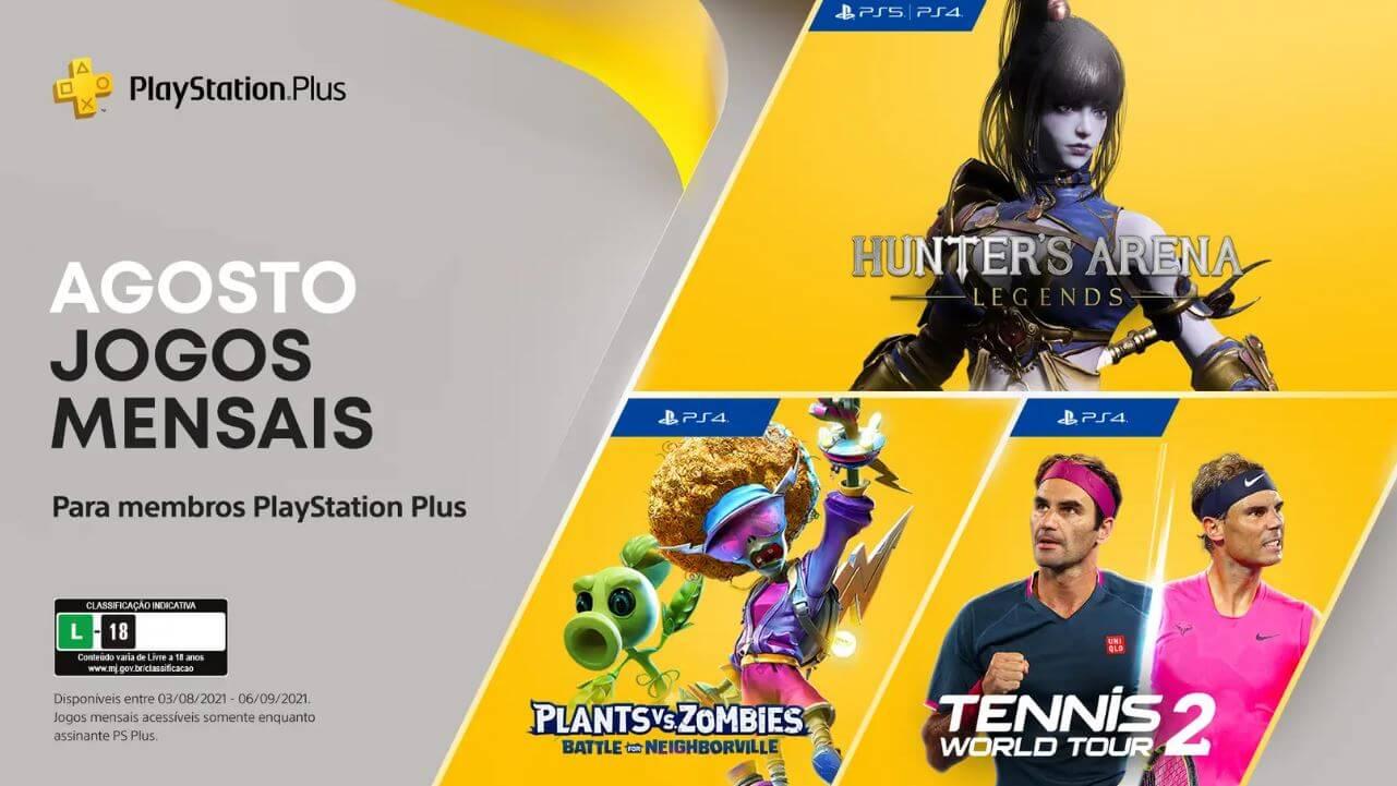 Jogos da PS Plus de agosto já estão disponíveis para baixar