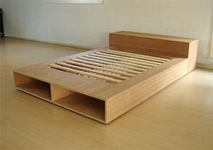 light wood mattress platform