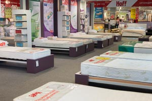 Mattress showcase