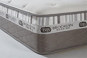 A corner of the Brooklyn Bedding Mattress