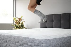 jumping on the gelfoambed mattress