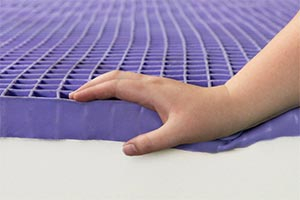 the trademark purple mattress polymer grid