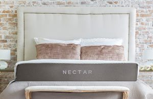 The nectar sleep mattress in a room