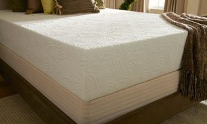 the eco bliss mattress from an angle