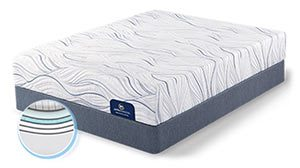 serta perfect sleeper memory foam mattress image