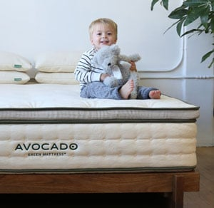 child on the mattress