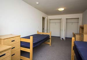 beds in a campus room