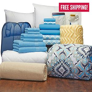 OCM's comfort bedding & bath dorm set