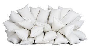 bunch of white pillows