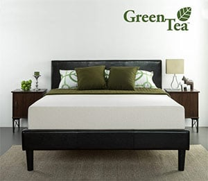 the Zinus Green Tea mattress in a room