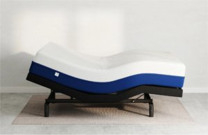 The Amerisleep Adjustable base with a head and feet incline.
