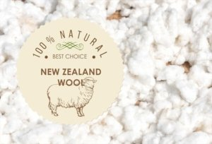 picture of wool with a sign that says it is New Zealand wool