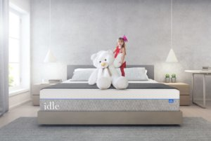 View of the IDLE Original Mattress with a child on it