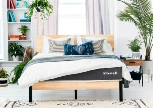 The Allswell mattress in a nice room