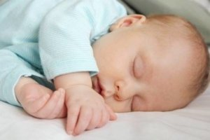 Image: peaceful baby fast asleep