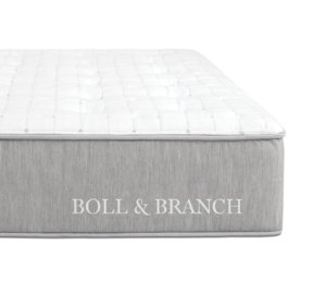 The Boll & Branch mattress' side