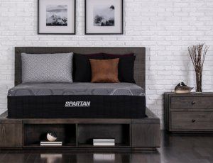The SPartan by Brooklyn Bedding in a furnished room