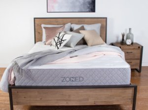 The Zoned by Brooklyn Bedding in the review room