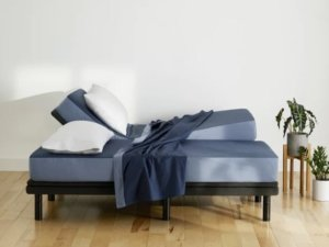 View of the Casper Adjustable Pro with split mattresses