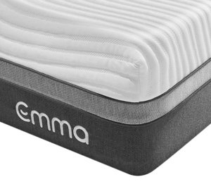 The mattress corner with the EMMA logo