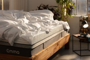 The Emma mattress in a nicely lit room