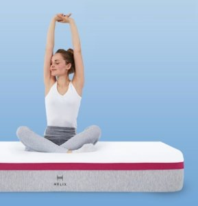 a girl stretching on the Helix mattress