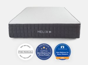 View of the Helix Plus mattress awards