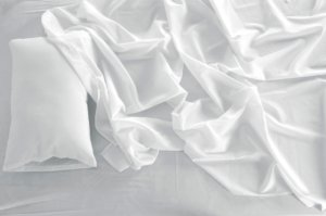 crumbled bedsheets