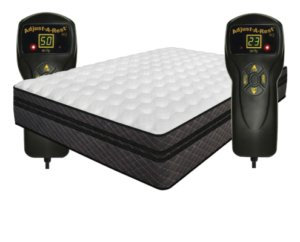 Full view of the IDLE Sleep Air Mattress and the remotes