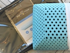 View of the ventilation offered by the IDLE Sleep Pillow