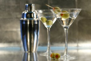 Image: martini glasses with shaker