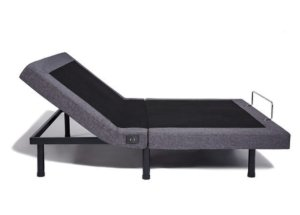 View of the Nectar Adjustable Bed with head elevated
