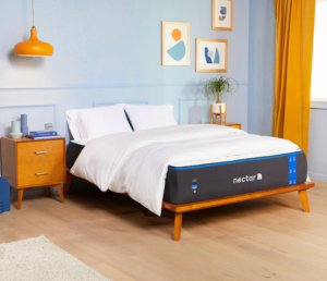 nectar mattress at the bed - side view