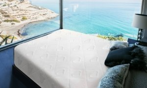 the mattress overlooking the sea