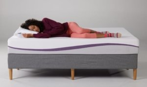 girl sleeping on the Purple mattress