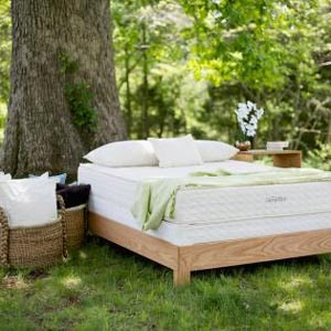 the savvyrest serenity mattress under a tree