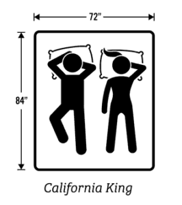 Pictogram of the California King size mattress