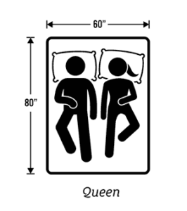 Pictogram of the queen size mattress