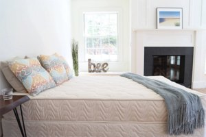 the spindle mattress in a nice white room